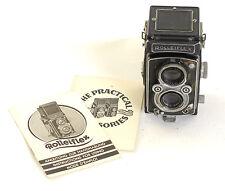 Rolleiflex 1930s DRP Drgm TLR 6x6 cámara de cine 75mm Lente Tessar F3.5 (0143)