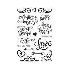 Hero Arts Poly Clear Cling Stamps You Are Loved Flourish Messages
