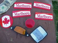 Vintage BICYCLE REFLECTOR lot Marlboro Canada Tobacciana Advertising cigarette