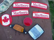 Vintage BICYCLE REFLECTOR lot Marlboro Canada