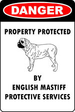 English Mastiff Lover Parking Only Aluminum Metal Sign
