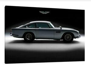 Aston Martin DB5 - 30x20 Inch Canvas - Classic Car Framed Picture Poster Print