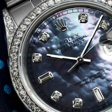 Rolex 36mm Datejust Tahitian Mother of Pearl 8+2 Diamond Dial Stainless Steel