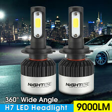 2x Nighteye 72w 6500K H7 Led Luce Auto 9000LM Faro Bianco Lampadine Headlight