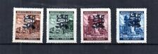 WWII CZECHOSLOVAKIA 1945 RED ARMY OVERPRINTS 4 GERMAN ISSUED BOHEMIA & MORAVIA