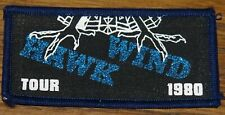 HAWKWIND TOUR 1980 ORIGINAL VINTAGE WOVEN CLOTH SEWING SEW ON PATCH