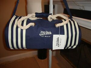STYLISH, BRAND NWT WEEKEND/CARRY ON DUFFLE BAG BY JEAN PAUL GAULTIER
