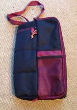 Black Deluxe Insulated 1 Bottle Wine Tote with Napkins Glasses