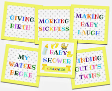 Charades - Baby Shower Party Game - Baby Shower Charades Game  Unisex - 24 cards