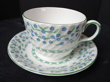 Aynsley Forget Me Not Cup & Saucer English Fine Bone China England