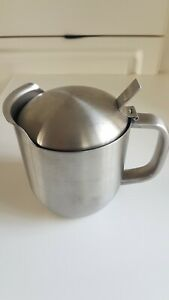 Stainless Steel Thermal Gravy Boat Pot Sauce Milk Jug Double Walled
