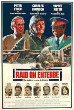 RAID ON ENTEBBE Movie POSTER 27x40 Charles Bronson Peter Finch Horst Buchholz