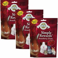 Oxbow SIMPLE REWARDS Treats Rabbit Guinea Pig Chinchilla STRAWBERRY .5 oz 3 PACK