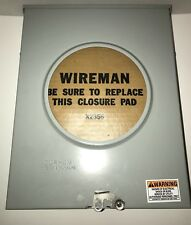 Durham 200 Amp Meter Box / 600 Vac / 1 Phase 3R Wire Enclosure Bottom Feed