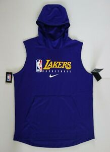 Nike NBA Los Angeles Lakers Issue Practice Purple Hoodie AV1479-504 XL