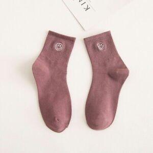 Women Winter Cotton Socks Warm Smiling Face Fashion Casual Short Soft Sock 1Pair
