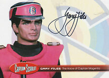 Captain Scarlet Case Autograph Trading Card GF1 Gary Files