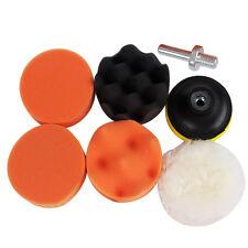 6PCS Premium Sponge Polishing Waxing Buffing Pads Kit Set Compound For Auto Car