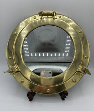 "New ListingVintage 12"" Brass Porthole Nautical Maritime Ship Boat Wall Mirror Home Decor"