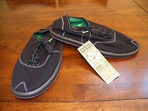 New Mens SANUK Mason Black Lace Up Surfer Canvas Walking Tennis Shoes Sneakers