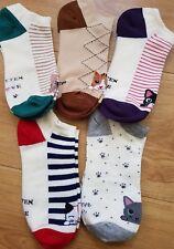 Moomin Face Character Novelty Cartoon Rib Ankle Socks Kawaii Harajuku Size 35-40