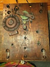 New ListingAntique S. Hoadley Long Drop Wood Works Shelf Clock Movement. C.1830.