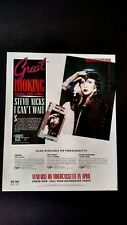 "Fleetwood Mac Stevie Nicks "" I Can'T Wait "" Rare Original Print Promo Poster Ad"