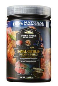AZOO Ultra Fresh Royal Cichlid Pellet  Flowerhorn Blood Tropical Fish Food