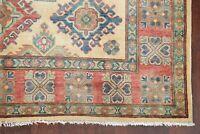 Geometric Super Kazak Oriental Area Rug Hand-Knotted Living Room Wool Carpet 6x8
