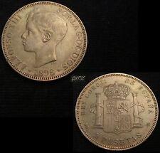 *GUTSE*270-ALFONSO XIII 5 PESETAS 1898*18-98, MADRID SG V, EBC++