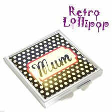 Retro Lollipop Contemporary Mum Design Handbag Mirror XHMRL003