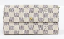 Used Authentic Louis Vuitton LV Wallet Damier Azur 1216