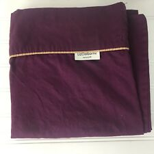 LIZ CLAIBORNE KING PURPLE PILLOWCASES SET of 3