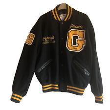 Varsity Jacket Black XL Made USA Wool Vintage Classic Granada Choir