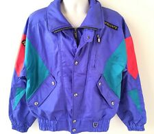 Vtg Descente Neon Color Block Coat, Jacket, Shell, Mens Size M, VGC, Womens L XL
