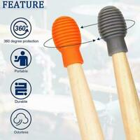 4x Silicone Drum Stick Drumsticks Practice Tips For Silent Bew Drum Q6Z7