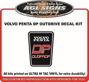 VOLVO PENTA DP duoprop Outdrive Replacement Decal Kit