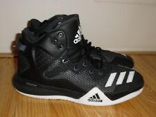 EEUC Adidas Men's DT Bounce Basketball Shoes Size 8 Black White AQ7288