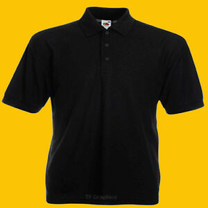 Personalised Polo  Shirt  -  Custom Polo Quote Corporate Uniform Logo Text