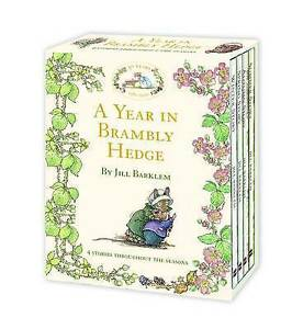 A YEAR IN BRAMBLY HEDGE Jill Barklem 4 book set in slip case 30th anniversary