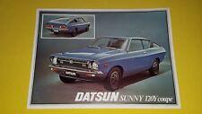 Datsun Sunny 120Y Coupe car brochure sales catalogue 1977 MINT RARE 120 Nissan