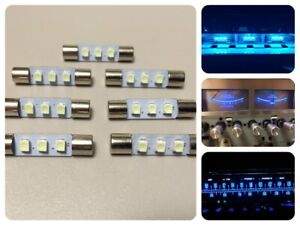 7x LED Lampen Eis-Blau für Marantz Pioneer Kenwood McIntosh ice-blue lamps bulbs