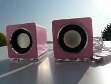 Design USB Lautsprecher Boxen für Laptop PC TV  Mp3 player Loudspeaker Rosa (DR)