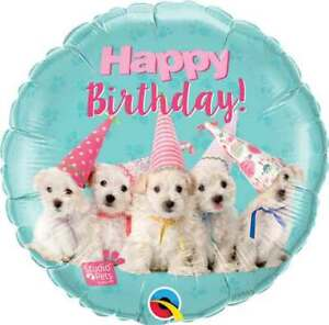 18'' Cute Puppies Happy Birthday Foil Balloon