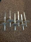 Roof Snow Ice Birds,Guards,Brakes Coated Steel/cast Lot Of 6