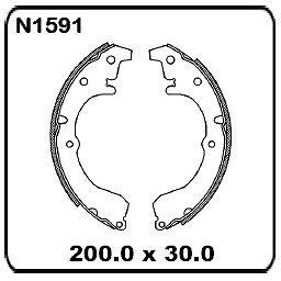 For Toyota Tercel AL25 8/1982-11/1987 REAR Drum Brake Shoe Set N1591