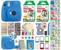 Fuji Instax Mini 9 Fujifilm Instant Camera All Colors + 40 Film Deluxe Bundle