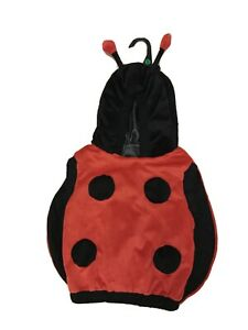 Halloween Lady Bug Red Black Plush Winged Hooded Costume Childs Sz S 2T-4T NEW