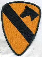 US Army Vietnam Era 1st Cavalry Color Patch Cut Edge