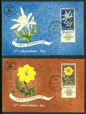 Israel 180-81, 12th Independence Day Pancratium Maritium Phila Maxi Maximum Card